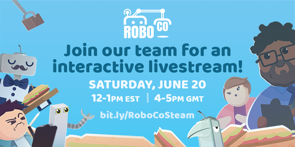 Join the RoboCo team for an interactive livestream!