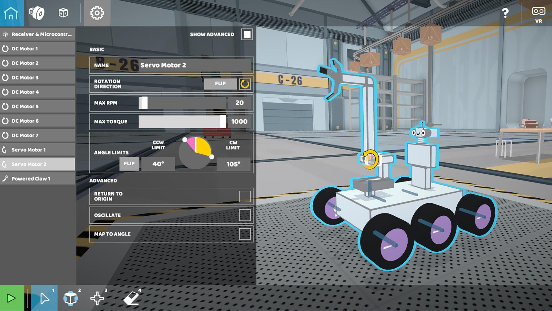 roboco screenshot with robot visible